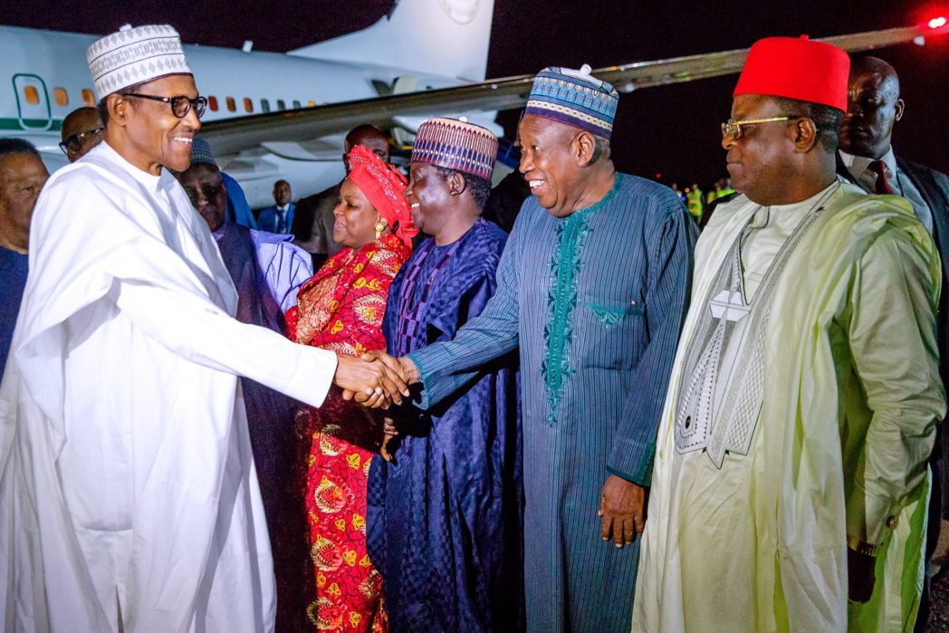 Buhari Returns To Nigeria From Visiting South Africa