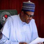 Nigerian President making a speech