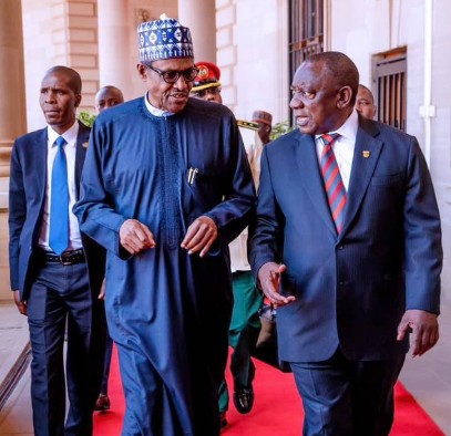 Buhari and Cyril, the president of South Africa