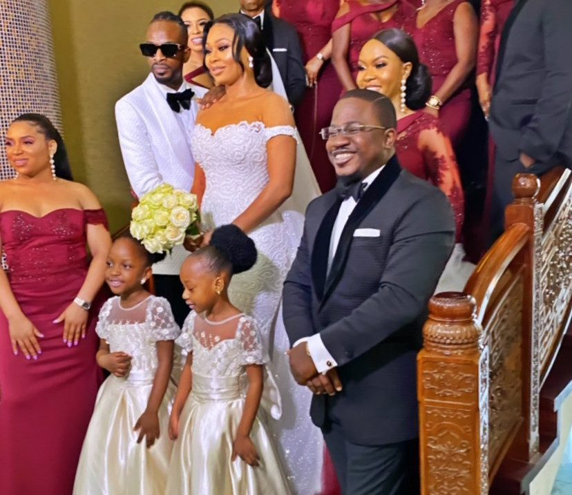 Photos From Singer, 9ice's White Wedding To Olasunkanmi