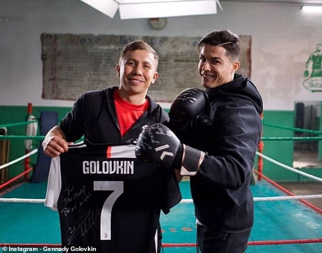 Cristiano Ronaldo Pictured With Boxer Gennady Golovkin, Days After Losing Ballon d'or To Messi