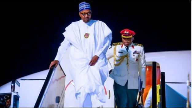 President Buhari Returns To Abuja After Trip To Egypt