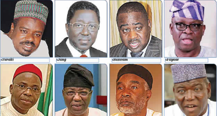 REPORT: 10 Former Governors Who May Suffer Orji Uzor Kalu's Fate