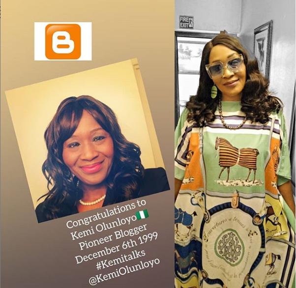 1st Nigerian Blogger! Nigeria's Kemi Olunloyo Celebrates 20 Of Blogging,