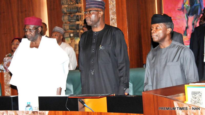 VP Osinbajo Presides As FEC Observes 1 Minute Silence For Victims Of Fresh Boko Haram Attack In Borno