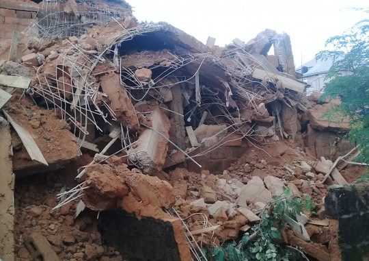 Update: 3 More Bodies Recovered From Imo Building Collapse Site; Mother And Her Children Still Trapped In Rubble