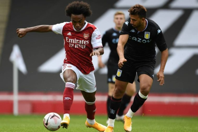 Pictures Of Willian In Action For Arsenal Debut In Saturday's Friendly